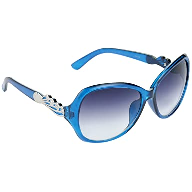 c2e7dc006d Read leaf queen bee over sized grey lens blue frame sunglasses for women  clothing accessories jpg