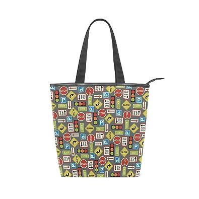 Amazon.com  Women Large Tote Top Handle Shoulder Bags Traffic Light Satchel  Handbag  Shoes 82dd9c04fa6a0
