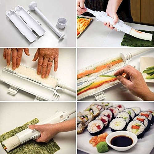 [DIY Sushi Mold Maker Sushi Rolls Making Rice Ball Mould Roller Tools Set Easy to clean & carry Perfect for] (Buzzfeed Easy Costumes)