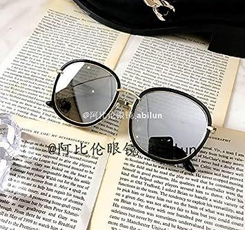 LXKMTYJ La tendencia de gafas de sol retro big box cara negra gafas Gafas de sol