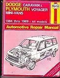 Haynes Dodge Caravan and Plymouth Voyager Mini-Van Owners Workshop Manual, No. 1231, J. H. Haynes and Curt Choate, 1850106592
