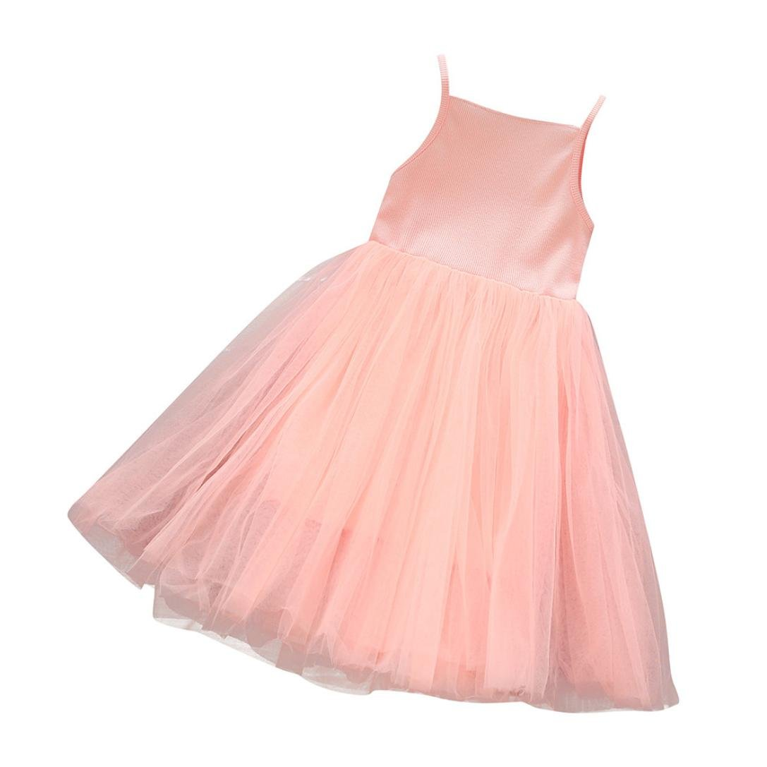 Vinjeely Toddler Baby Girls Strap Tulle Party Tutu Casual Princess Dresses