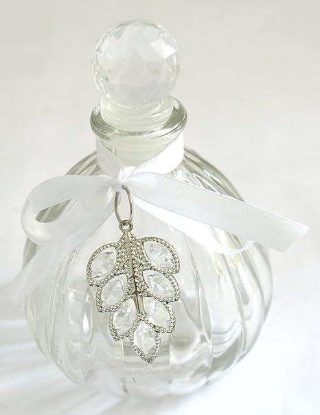 Frasco con decoración colgante diámetro 8,5 cm x 11,5 cm Perfume Botella