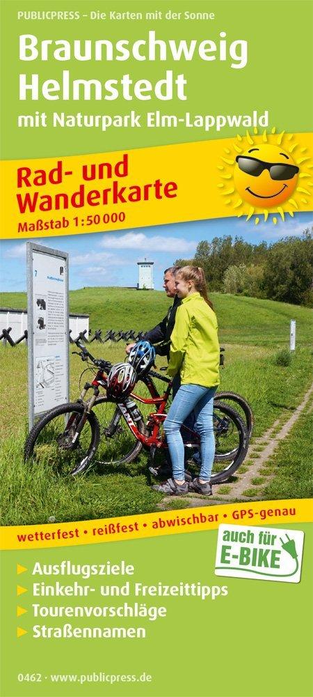 Braunschweig - Helmstedt mit Naturpark Lappwald: Rad- und Wanderkarte mit Ausflugszielen, Einkehr- & Freizeittipps, wetterfest, reissfest, abwischbar, GPS-genau. 1:50000 (Rad- und Wanderkarte / RuWK) Landkarte – Folded Map, 1. Juli 2018 PUBLICPRESS 374
