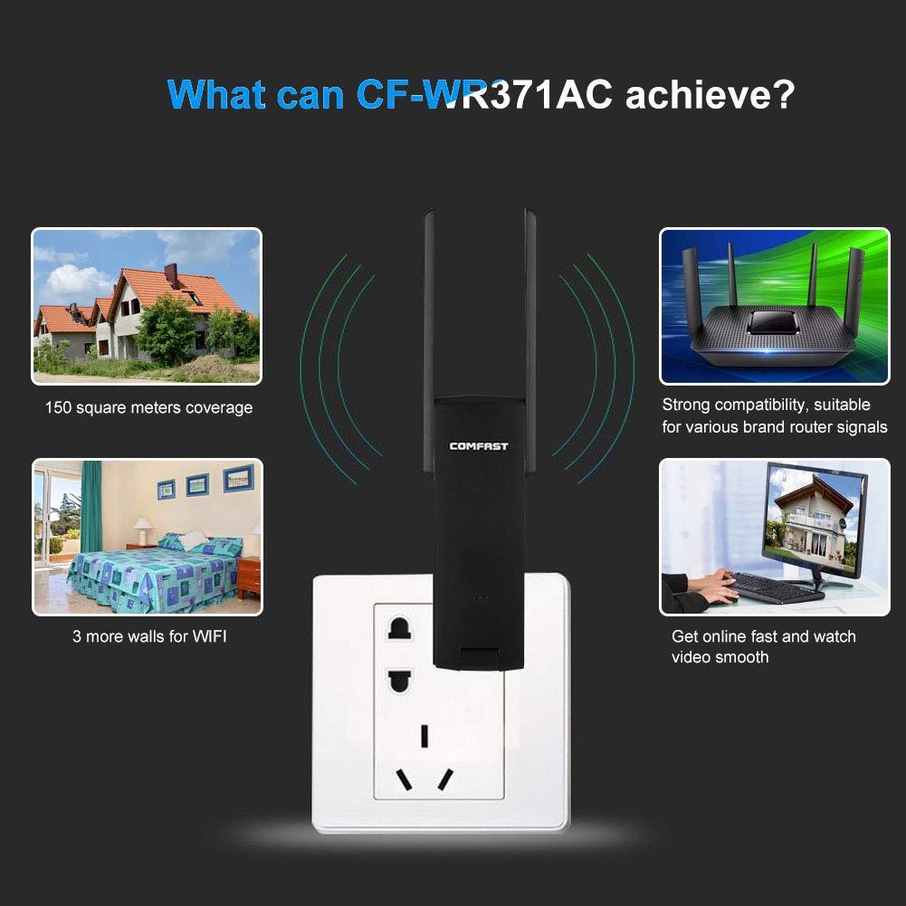 Mini-WLAN-Range-Extender CF-WR371 AC-USB3.0-Router mit 600 Mbit//s Dualband-802.11-WiFi-Signalverst/ärker-Expander 2,4 GHz und 5 GHz Bewinner Tragbarer kabelloser Router