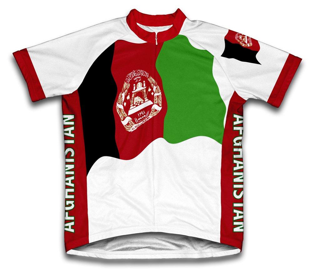 Afghanistan Flag Radsport Trikot mit kurzer Ärmel für Menner