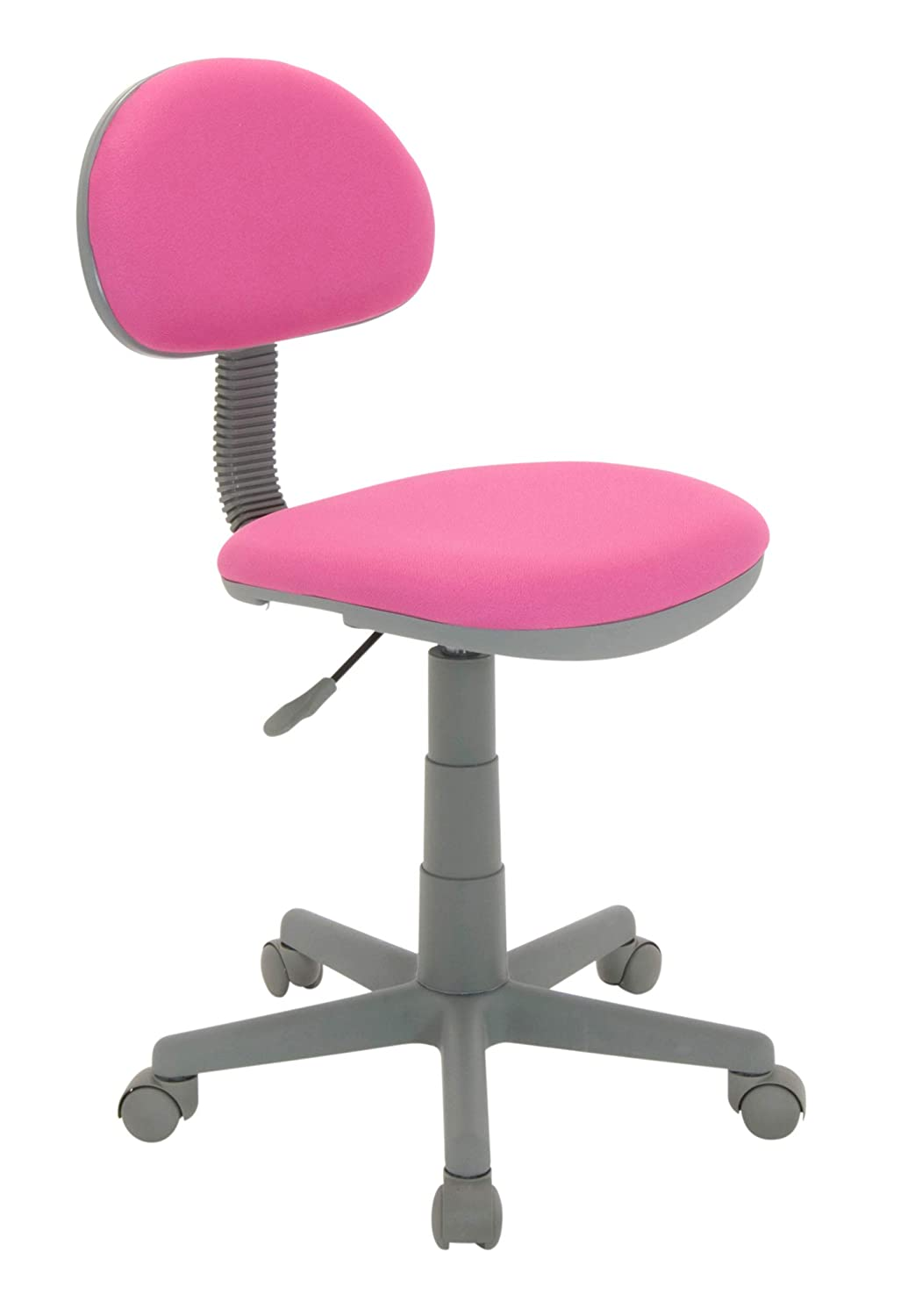 Remarkable Calico Designs Deluxe Task Chair In Pink With Gray Base 18510 Dailytribune Chair Design For Home Dailytribuneorg