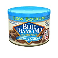 Deals on 6-Pack Blue Diamond Almonds, Low Sodium Lightly Salted 6-Oz