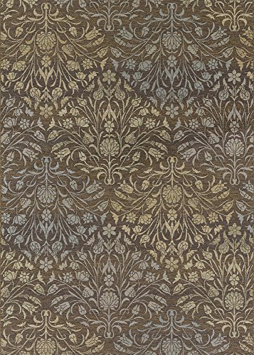 Couristan Brown Runner - Couristan 4044/0314 Dolce Coppola Runners, 2-Feet 3-Inch by 7-Feet 10-Inch, Brown