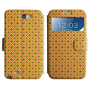 LEOCASE hojas lindo Funda Carcasa Cuero Tapa Case Para Samsung Galaxy Note 2 N7100 No.1007151