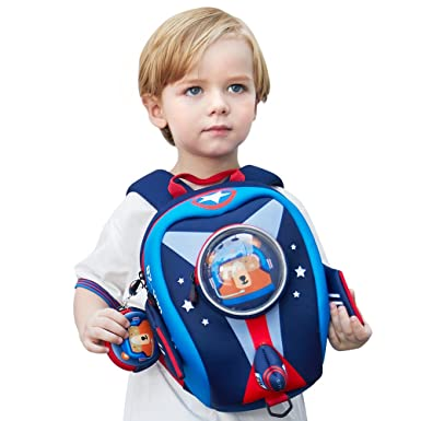 Amazon Com Uek Kids Airplane Backpack With Safety Leash Anti Lost