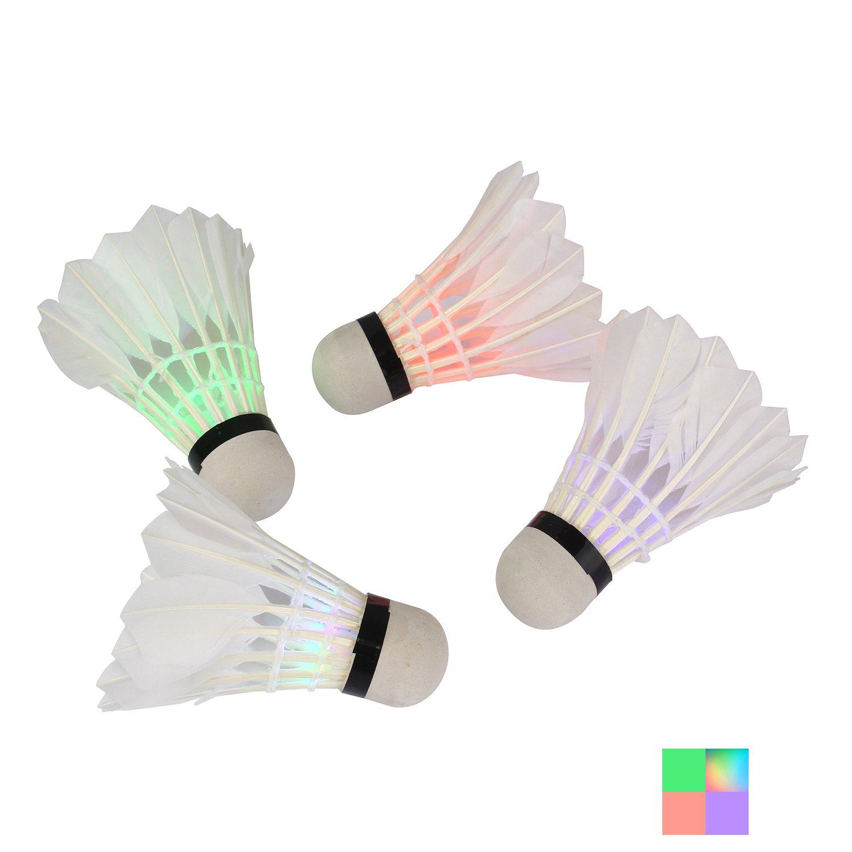 moinkerin 4 Piezas Bá dminton LED, Volante de Bá dminton pour Actividades Deportivas Interno y Externo Volante de Bádminton pour Actividades Deportivas Interno y Externo