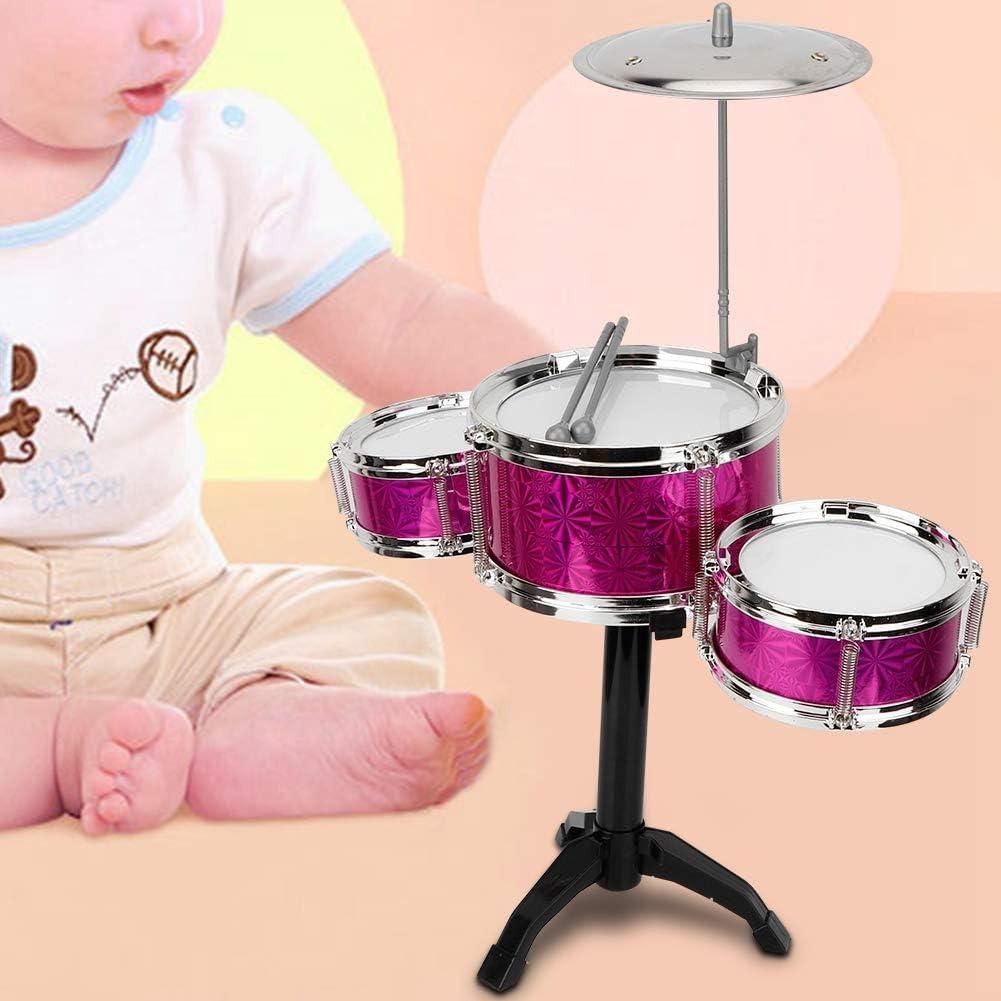 Tnfeeon Drum Sticks Pair of Electric Rhythm Drum Air Drumsticks Novelty Musical Instrument Silver Kids Toy Gift