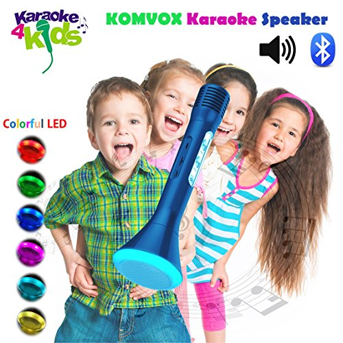 Kids Karaoke Singing Machine with Built-in Bluetooth Chirstmas Speaker, Prime Blue Prince Design, Creative Birthday Music Gifts Electronics Toy for Boys, Teens Sing Disney Songs