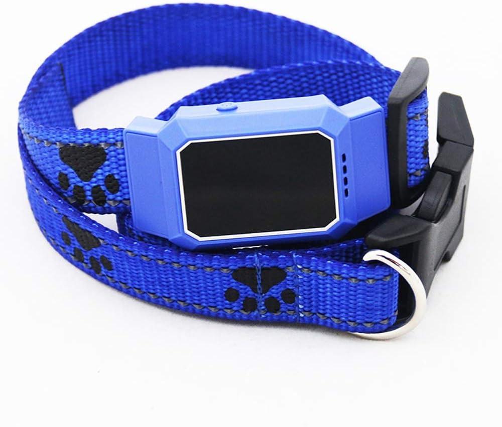 SNOWINSPRING Mascota Inteligente GPS Rastreador Collar para Perros para Mascotas Perros Gatos Localizador de Rastreo Dispositivo de Rastreo GPS Trazador Anti-Perdido Azul