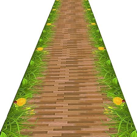 YANZHEN-Alfombra de Pasillo Alfombras Alargadas Respaldo De Goma Antideslizante Absorción De Agua Suave Corredor Escalera Fibra Mezclada Patrón De Carretera 3D, Tamaño Personalizado: Amazon.es: Hogar