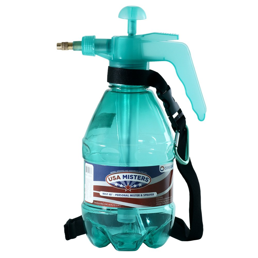 15 Pack USA Misters 1.5-liter Pump Mister & Sprayer Bottle with Strap and Bag Clip Teal …