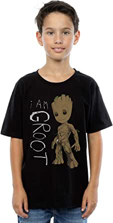 Marvel niños Guardians of the Galaxy I Am Groot Scribbles Camiseta