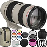 Canon EF 70-200mm f/2.8L USM Lens - International Version (No Warranty) 9PC Accessory Bundle - Includes 3PC Filter Kit (UV-CPL-FLD) + MORE