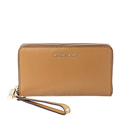 e95c39fad50d37 Michael Kors Jet Set Travel Large Smartphone Wristlet- Acron: Handbags:  Amazon.com