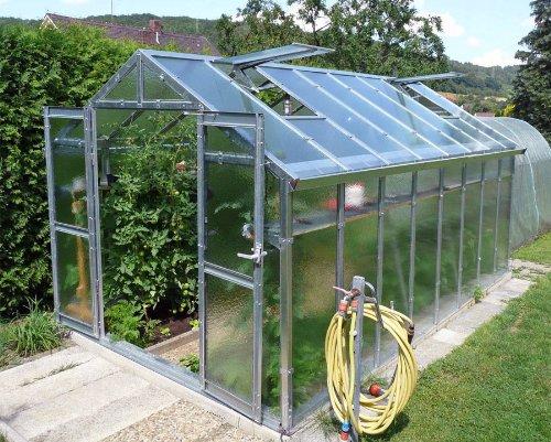 Gewachshaus Mit Glas Unschlagbar Stabil 2 5 X 5 05 M Konstruktion