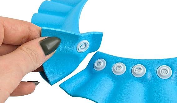 und Augenschutz Universal 1835 ISO TRADE Duschhaube Kinder Badekappe Verstellbar 13-15cm Ohr Farbe:Blau