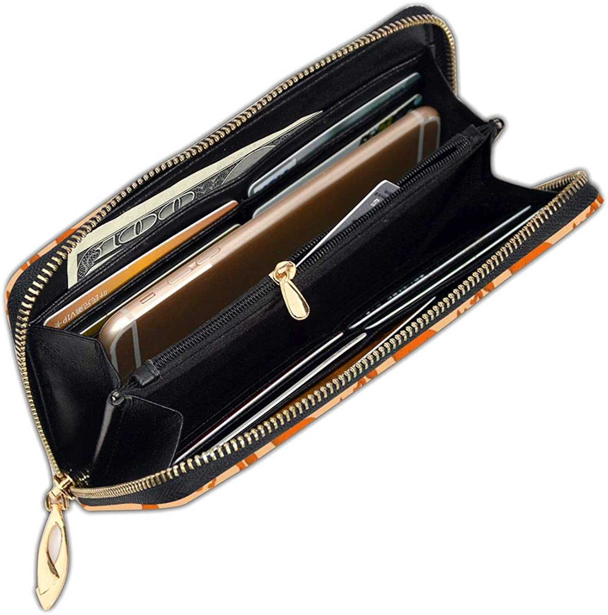FeiHuang Secret Colored Feather Blue Genuine Leather Girl Zipper Wallets Clutch Coin Card Phone Purse For Women