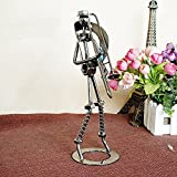 Metal Trombone Player Musician Sculpture Figurine - Nuts and Bolts Handmade Craft New - Home and Office Decor Unique Gift