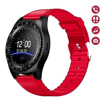 HopoFit HF03 Smartwatch Reloj Inteligente Teléfono,Ranura para Tarjeta SIM TF, Pantalla Táctil Texto Cámara Música, SNS Notification Sync,Compatible ...