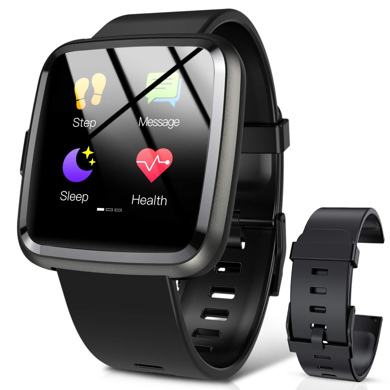 Hommie Smartwatch, S2 Reloj Inteligente con Pantalla Táctil Completa, Pulsera Actividad Inteligente ImpermeableIP67 con 8 Modos Deportes, Pulsómetro, ...