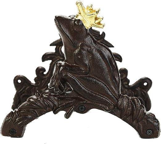 Sungmor - Soporte para manguera de jardín de hierro fundido resistente, montaje en pared, colgador de manguera decorativo, decoración de jardín antiguo y patio, Frog(25L*16W*19.5Hcm): Amazon.es: Jardín