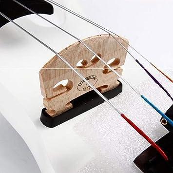 4/4 Madera Sólida Blanco/Negro/Rojo Vino Violín Eléctrico, Instrumento De Cuerda De Violín Accesorios De Madera De Haya Juegos De Auriculares Para Cable, Amantes De La Música Principiantes: Amazon.es: Instrumentos musicales