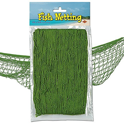 Nautical Fish Netting Party Decor 4' x 12' MOSS GREEN by The Beistle Co.