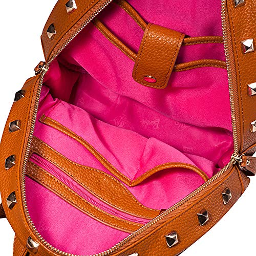 Cuir Serie Filles amp; avec de Pure Sac Rock Rivet Loisir Roll de PU BBBP028 Mode Barbie de Style Dos à Jeunesse Femmes Couleur la Marron en Douce 6Cw68Tq