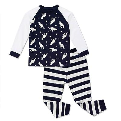 Baby Toddler Boys Long Sleeve Dinosaur Tops and Pants PJ Set