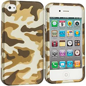 Accessory Planet(TM) Camo 2D Hard Snap-On Design Rubberized Case Cover Accessory for Apple iPhone 4 / 4S