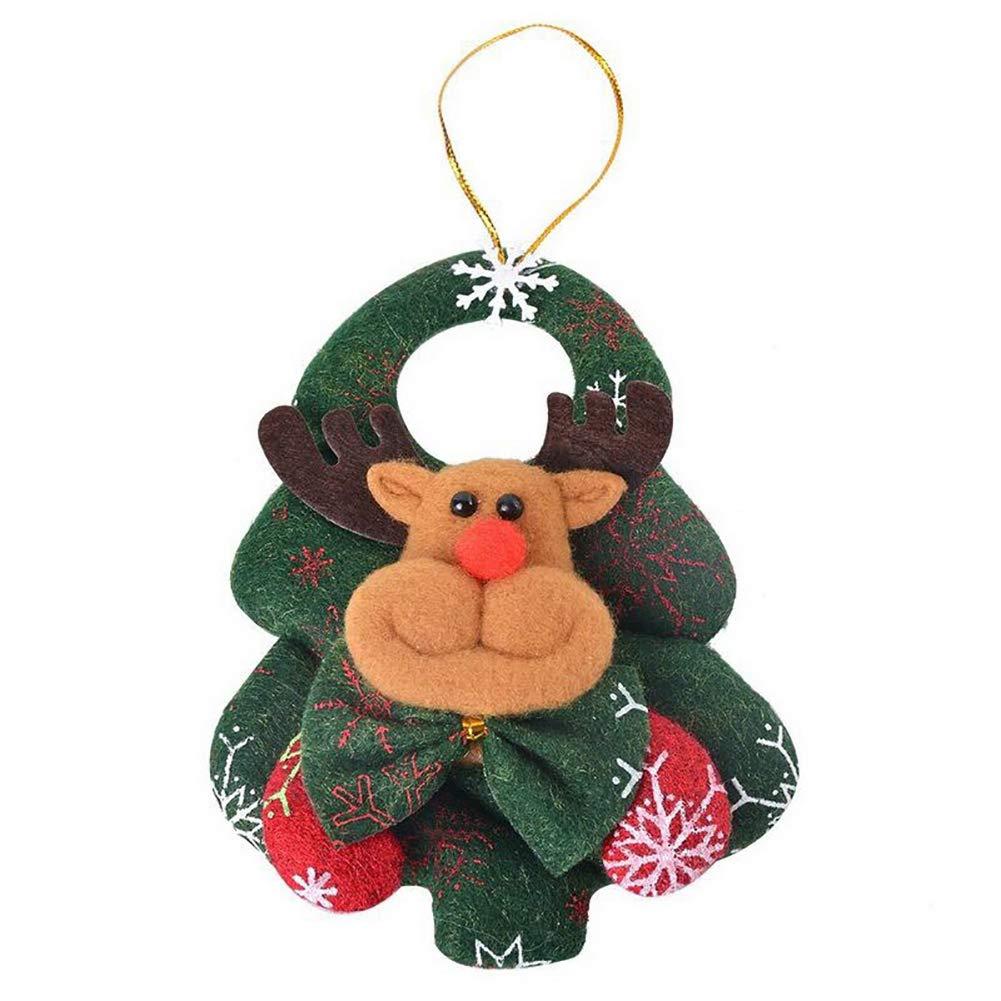 BONNIO Ciondolo Albero di Natale Decorazione Cervo Pupazzo di Neve Orso di Babbo Natale