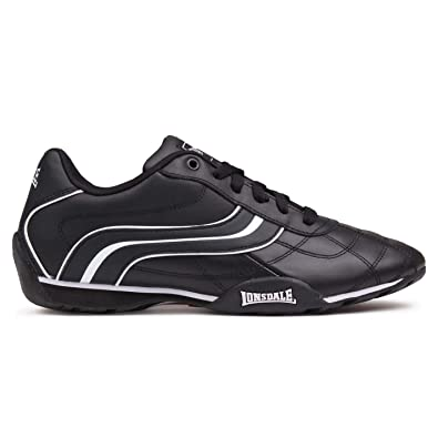 Lonsdale Mens Camden Trainers Lace Up Casual Sports Shoes Footwear  BlackWhite 7 41