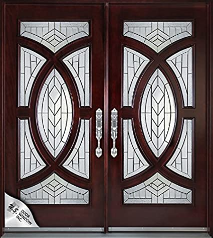 Exterior Front Entry Double Wood Door 705a 30x80x2 Right Hand