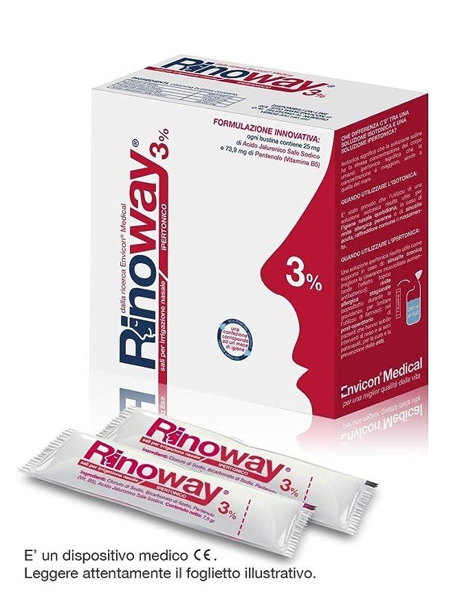 5 opinioni per Rinoway® sali Ipertonici per irrigazione nasale 30 bustine 7,5 gr. Envicon®