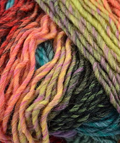 109 Yards Worsted Weight Yarn - PLYMOUTH GINA COLOR 12 RAINBOW