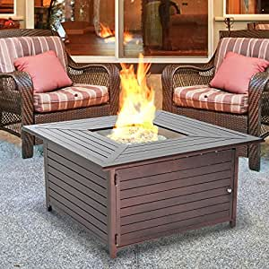 New MTN-G Outdoor Gas Propane Fire Pit Table Fireplace Aluminum Patio Deck Heater