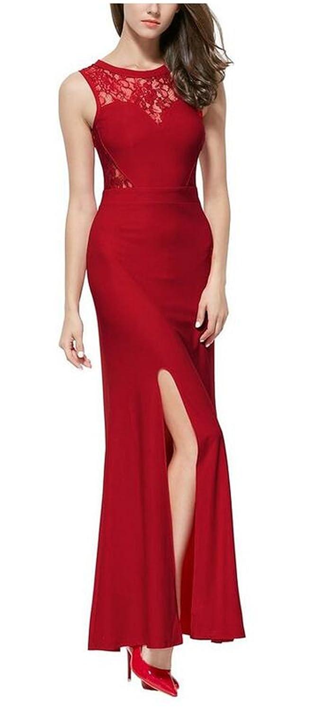 SimpleDressUK Women's Floral Lace Sleeveless Long Prom Dresses