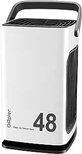 OApier Purificador de aire portátil OAapier con filtros HEPA reales y carbón activo para el hogar, alergias, olores, polvo, PM2.5, eliminación de polen, purificadores con USB - 3320 blanco: Amazon.es: Hogar