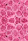 Laeacco 3x5ft Thin Vinyl Photography Backdrops Baby Birthday Party Pink Rose Flowers Love Theme Photo Background Studio Props 1x1.5meter