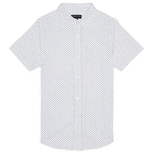 French Toast Little Boys' Short Sleeve Woven Shirt, Dot Print, 5 -