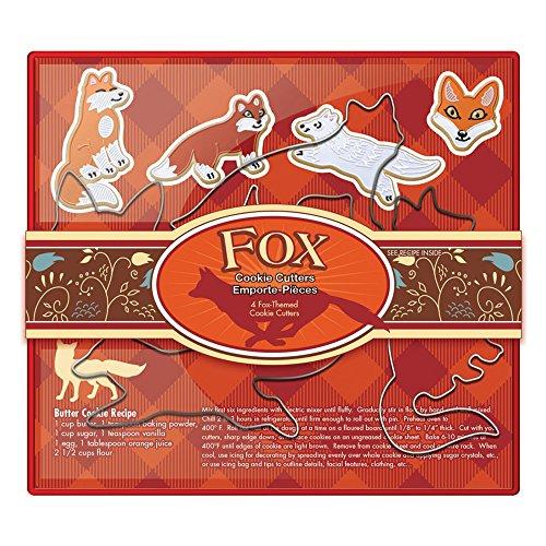 Fox Run 36541 Fox Cookie Cutter Set Stainless Steel