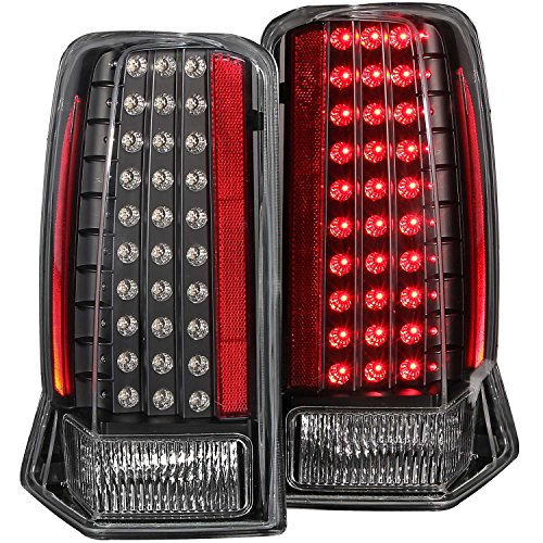 Anzo USA 311121 Cadillac Escalade All Black No Red Cap LED Tail Light Assembly – (Sold in Pairs)
