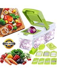 Freetor Pro chopper,Vegetable Slicer Dicer Food Chopper Cuber Cutter, Cheese Grater Multi Blades for Onion Potato Tomato Fruit Extra Peeler Included