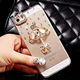 iPhone SE 5s 5 Case,HAOTP(TM) 3D Handmade Bling Crystal with Shiny Sparkle Rhinestone Diamonds Design Clear Soft TPU Cover Case for iPhone SE 5s 5 (Lovely Umbrella)